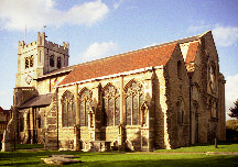 Photograph of Waltham Abbey Church, viewed from the south east.